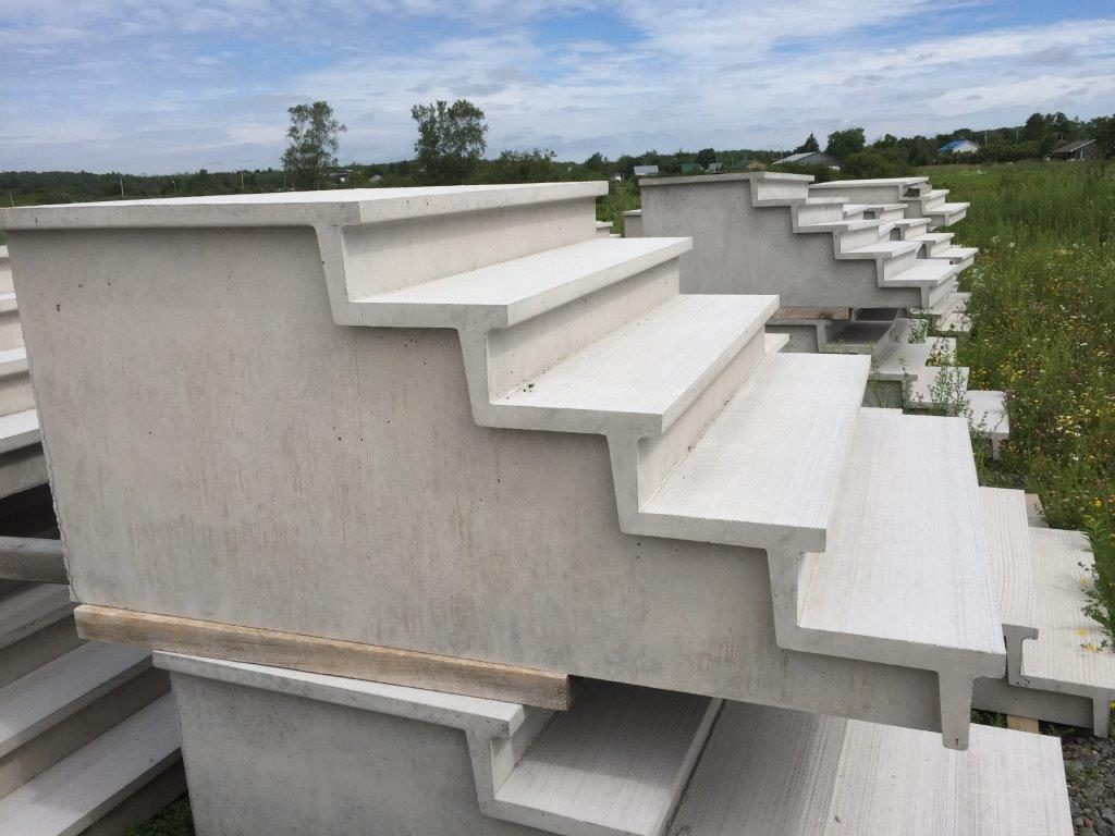 Pre-cast steps available from Brookfield Concrete Products and Island Concrete Products
